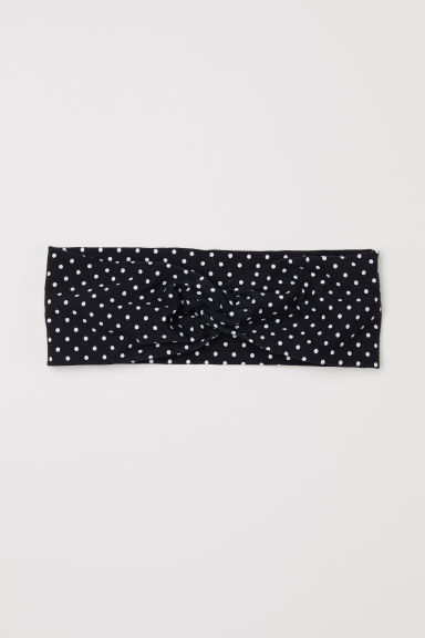 Patterned hairband - Black/Spotted - Ladies | H&M CN