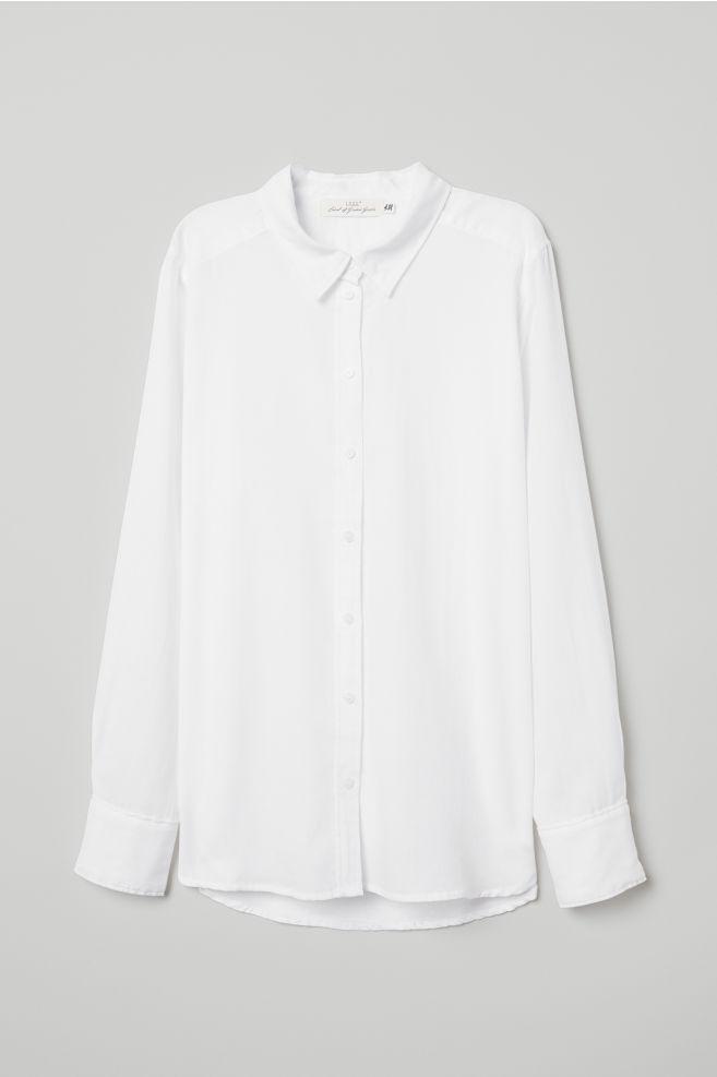 Chemise en coton - Blanc - FEMME | H&M FR 5