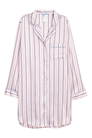 Satin nightshirt - Light pink - Ladies | H&M CN