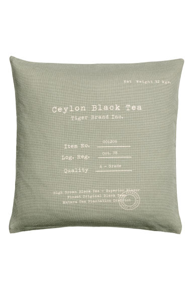 Cotton cushion cover - Dusky green - Home All | H&M CN