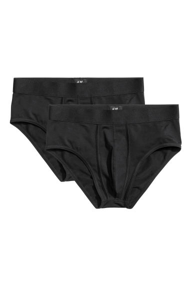Slips en coton pima, lot de 2 - Noir - HOMME | H&M BE 1