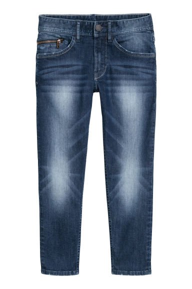 Relaxed Tapered Fit Jeans - Albastru-denim închis - COPII | H&M RO