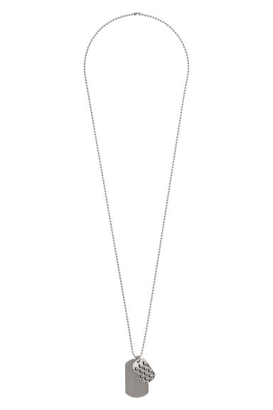 Long necklace with pendants - Silver-coloured - Men | H&M GB