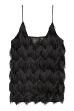 Top with fringes - Black - Ladies | H&M CN 2