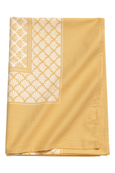 Patterned cotton tablecloth - Light yellow/Patterned - Home All | H&M CN