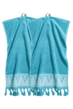 2-pack guest towels - Turquoise - Home All | H&M CN 2