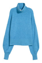 Mohair-blend polo-neck jumper - Blue - Ladies | H&M CN 2