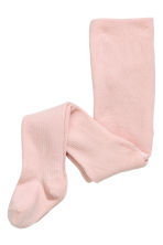 2-pack knitted tights - Pink/Grey marl - Kids | H&M 3