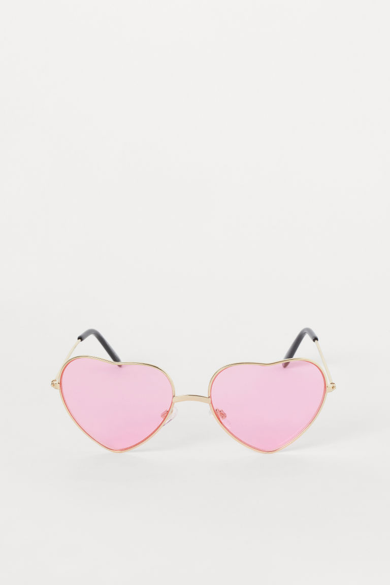Heart-shaped sunglasses - Neon pink -  | H&M GB