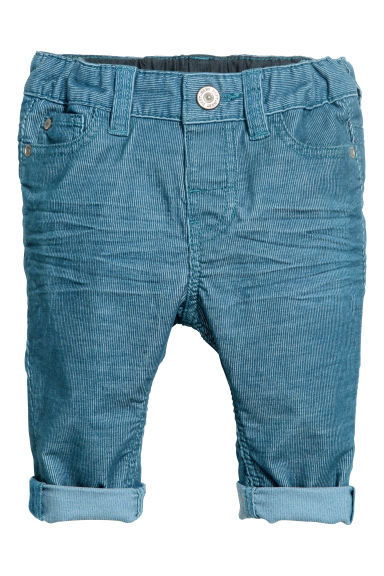 Corduroy trousers - Blue - Kids | H&M