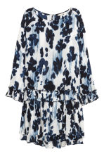 Crinkled dress - White/Dark blue - Ladies | H&M 1