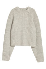 Knitted wool jumper - Light grey marl - Ladies | H&M CN 2