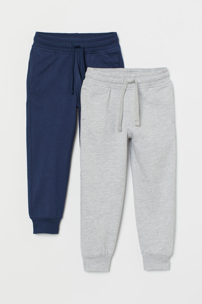 2-pack joggers - Grey/Dark blue - Kids | H&M GB