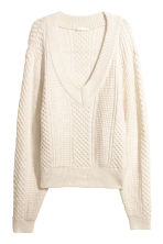 Pattern-knit jumper - Natural white - Ladies | H&M IE 2