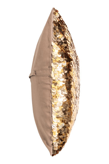 Sequined cushion cover - Gold-coloured - Home All | H&M GB 1
