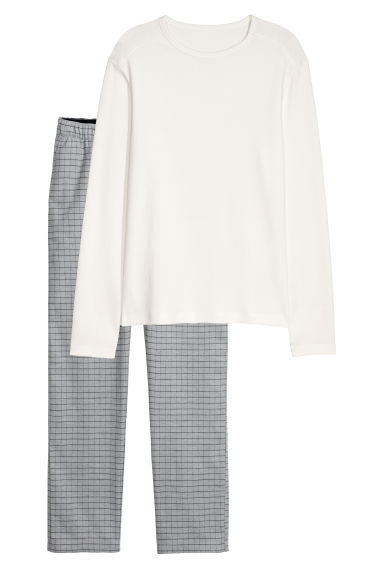 Pyjamas - Natural white - Men | H&M IE