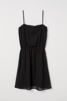 Sleeveless chiffon dress