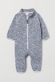 Knitted fleece all-in-one suit