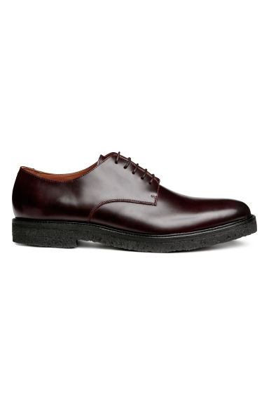 Derbys en cuir - Bordeaux - HOMME | H&M BE