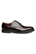 Leather Derby shoes - Burgundy - Men | H&M 1