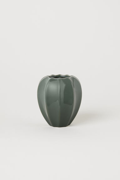Piccolo vaso in gres - Verde muschio - HOME | H&M IT