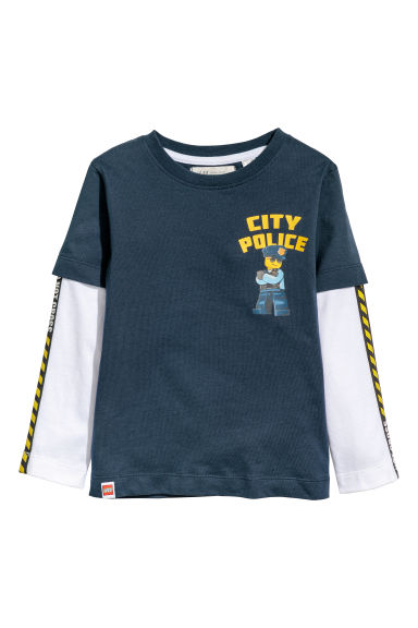 Jersey top - Dark blue/Lego - Kids | H&M CN 1