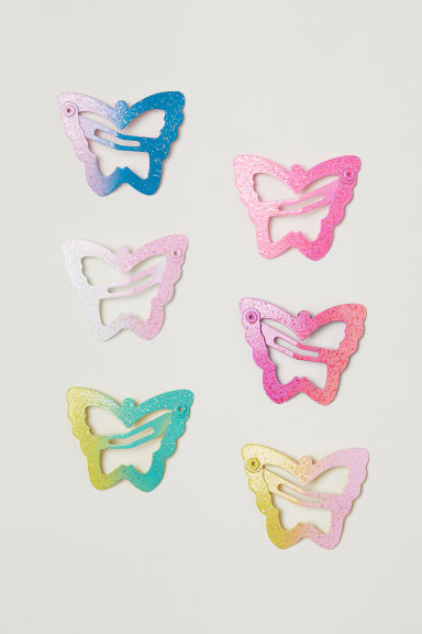 6-pack hair clips - Pink - Kids | H&M CN