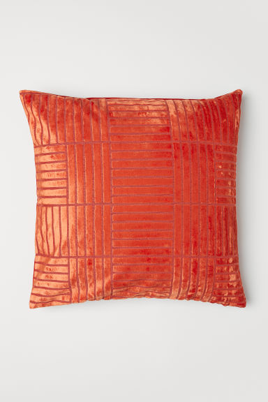 Patterned cushion cover - Dark orange - Home All | H&M CN