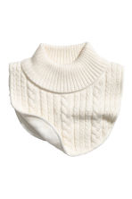 Fleece-lined polo-neck collar - Natural white - Kids | H&M CN 1