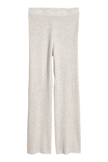 Pull-on cashmere trousers