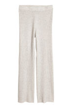 Pull-on cashmere trousers - Light grey - Ladies | H&M CN 2