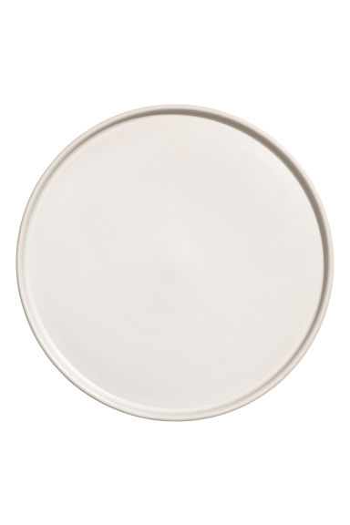 Assiette empilable en grès - Blanc - Home All | H&M FR