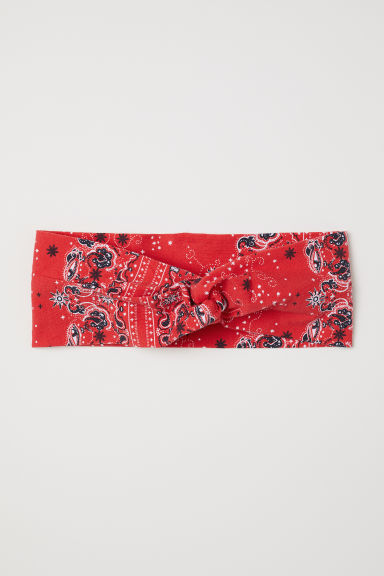 Patterned hairband - Red/Paisley - Ladies | H&M IE