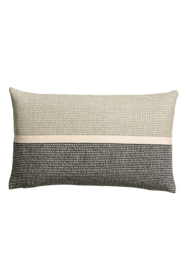 Canvas cushion cover - Green/Patterned - Home All | H&M CN