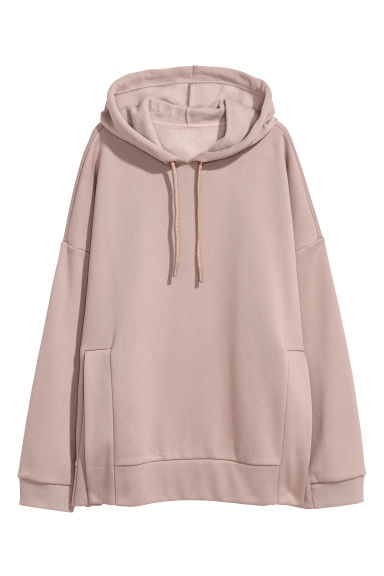Sweat-shirt à capuche oversize - Taupe -  | H&M BE