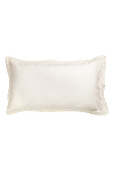 Lace-trimmed Pillowcase