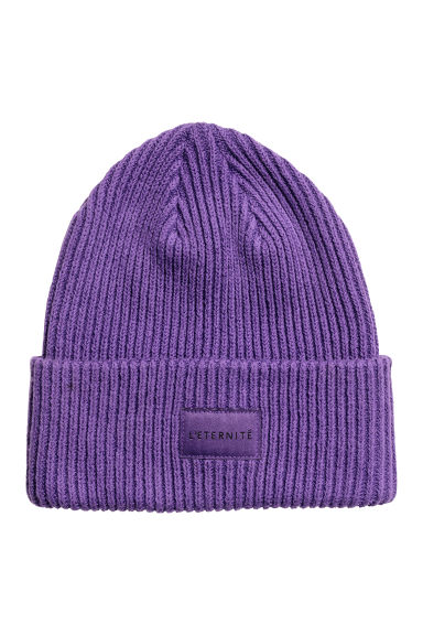 Rib-knit hat - Purple - Ladies | H&M GB