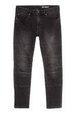 Skinny Tapered Jeans - Noir/washed out - HOMME | H&M BE 2