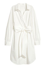 Cotton wrap dress - White - Ladies | H&M IE 2