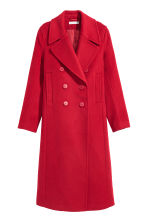 Wool-blend coat - Red - Ladies | H&M 2