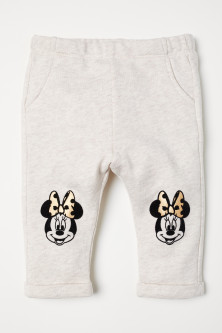 Sweatpants met flockprint