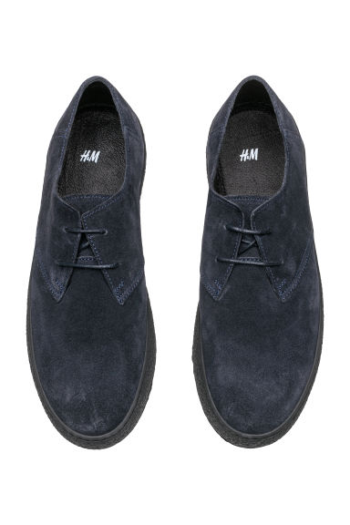 Suede shoes - Dark blue - Men | H&M IE