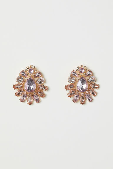 Earrings - Gold-coloured/Light pink - Ladies | H&M CN