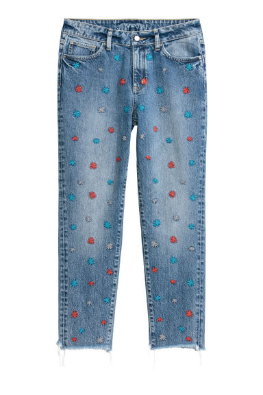 Girlfriend Regular Jeans - Tummansininen - NAISET | H&M FI
