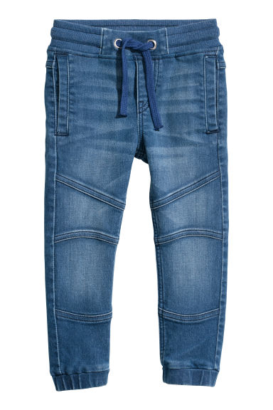 Pantalon jogger en denim - Bleu denim -  | H&M FR