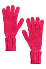 Cashmere-blend gloves - Cerise - Ladies | H&M IE 2