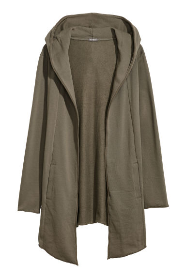 Long cardigan - Khaki green -  | H&M