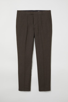 Linen suit trousers Slim fit
