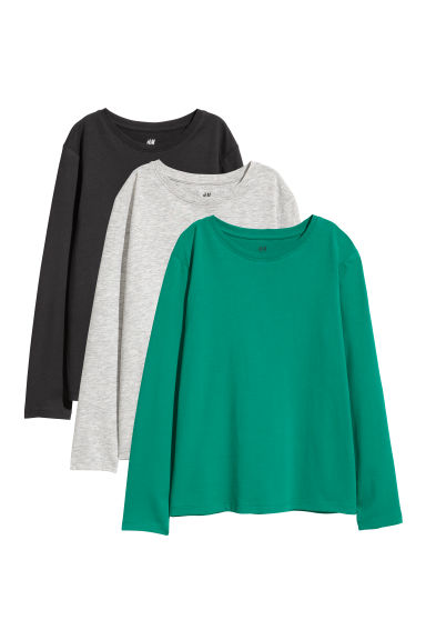 3-pack jersey tops - Green - Kids | H&M