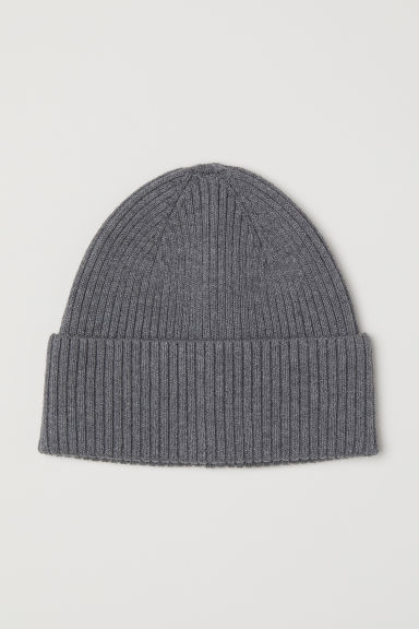 Ribbed hat - Grey -  | H&M